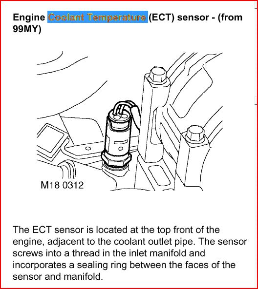 ENGINE TEMPERATURE SENSOR 1359056 RANGE ROVER L322//SPORT /& DISCOVERY