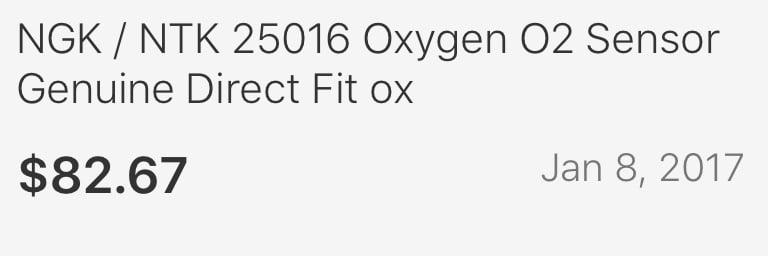 Oxygen Sensor-Direct Fit Left,Right NGK 25016